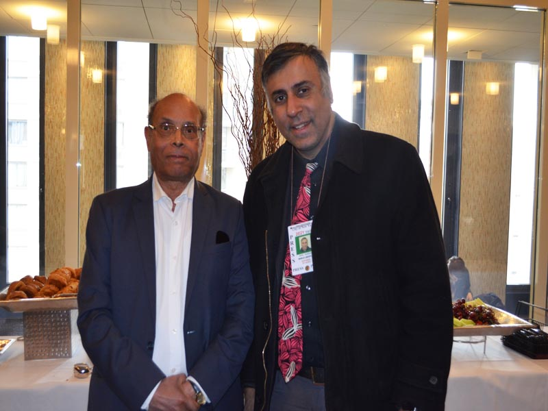 Dr.Abbey with Former President Moncef Marzouki of Tunisia