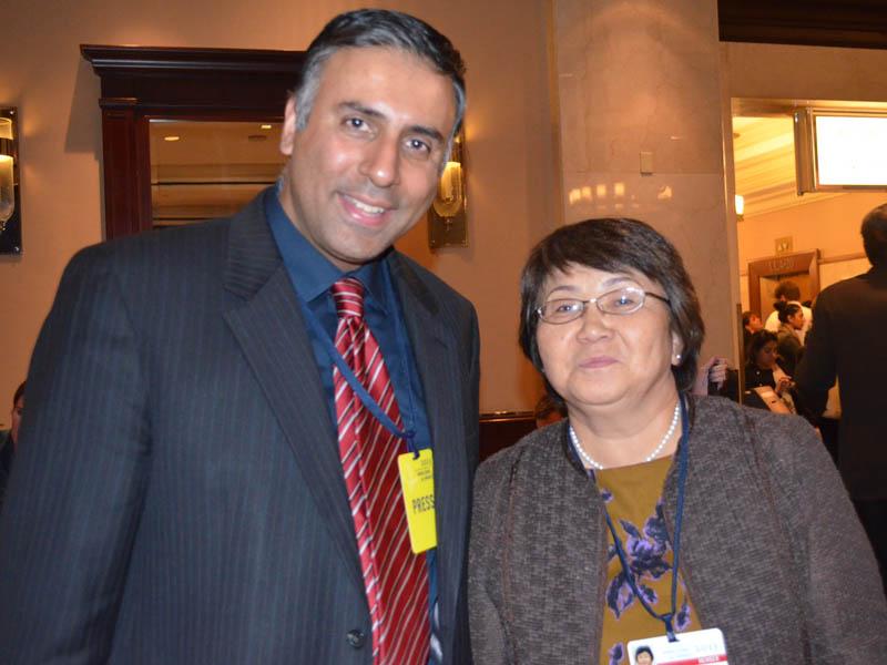 Dr.Abbey with Former President of Kyrgyzstan Roza Otunbayeva