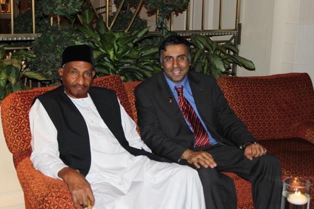 Dr.Abbey with Former Prime Minister of Sudan Al Sadiq Al Mahdi