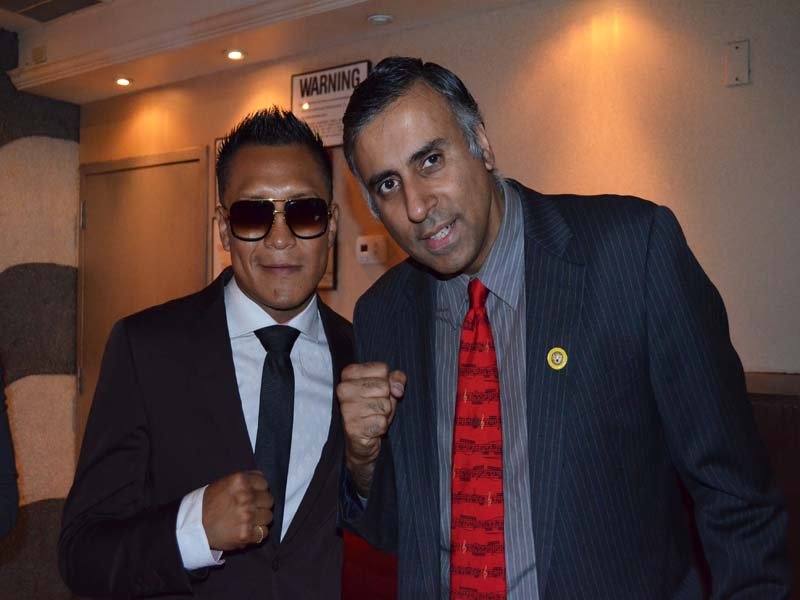 Dr.Abbey with Francisco Vargas WBC Super Featherweight World Champion