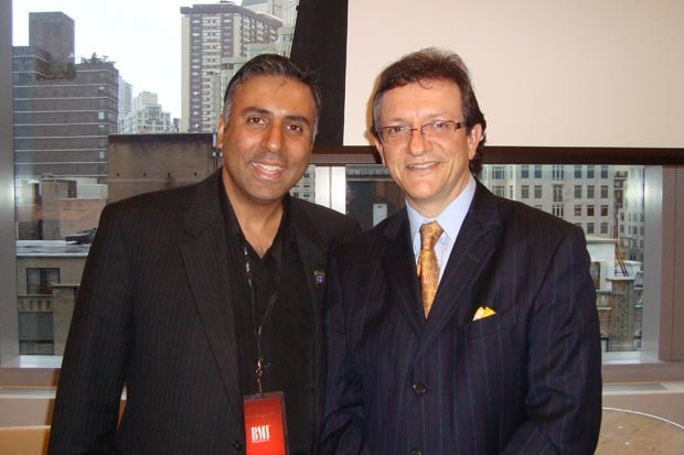 Dr. Abbey with Gabriel Abaroa Jr., President CEO of The Latin Recording Academy