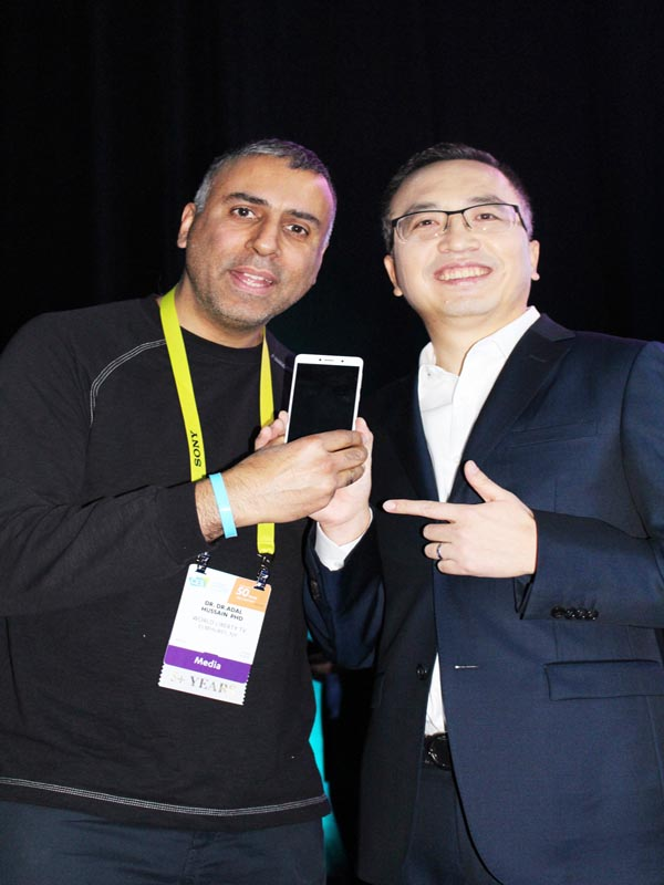 Dr.Abbey with George Zhao President of Honor