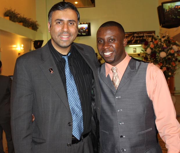 Dr.Abbey with Gerard Placide World Gospel Champion