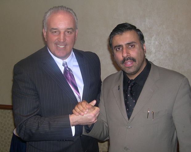 Dr.Abbey with Gerry Cooney Boxing Contender