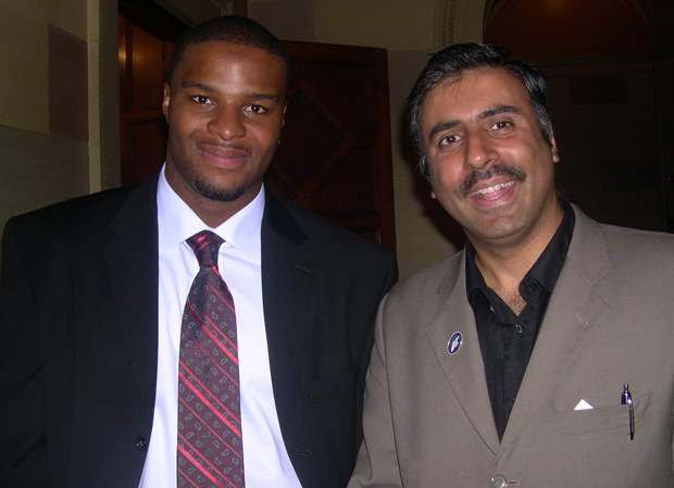 Dr.Abbey with Giants Osi Umenyiora
