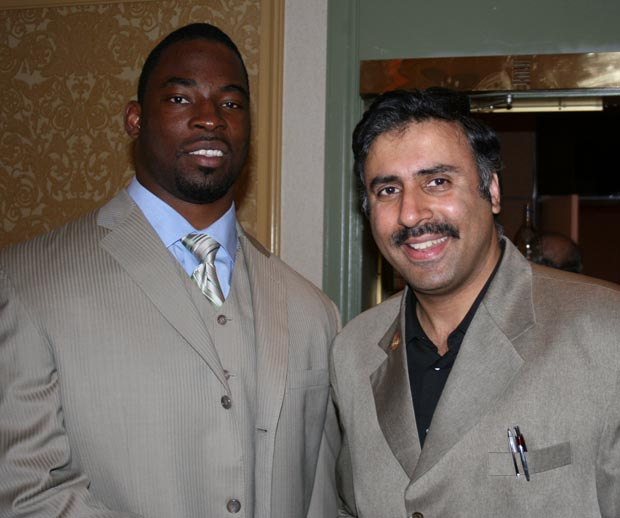 Dr.Abbey with Giants SuperbowlChampions Justin Tuck