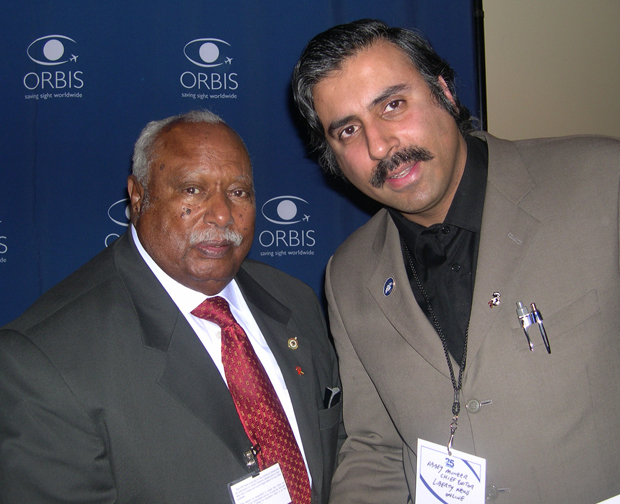 Dr.Abbey with Girma Wolde-Giorgis of Ethopia