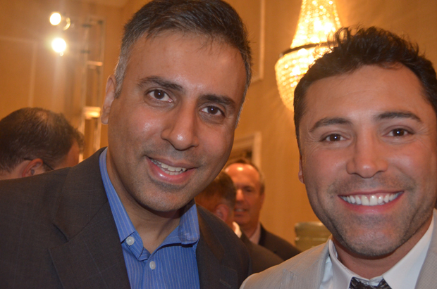 Dr.Abbey with Golden Boy Promoter Oscar De La Hoya