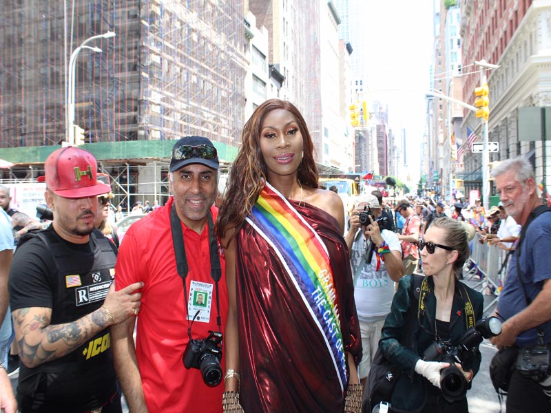 Dr.Abbey with Grand Marshall Dominique Jackson AKA Electra on POSE