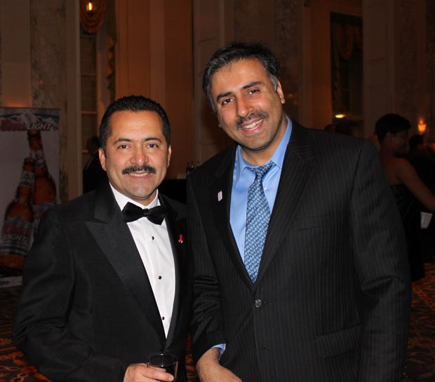 Dr.Abbey with Guillermo Chacón, President of the Latino Commission on AIDS