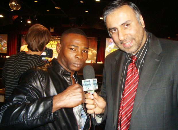Dr.Abbey with Guillermo Rigondeaux, World Super Bantamweight Champion