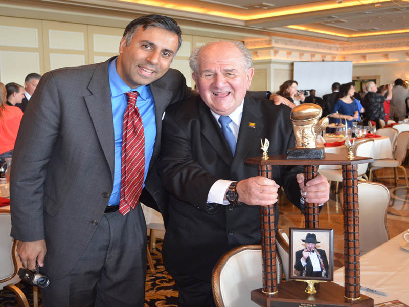 Dr.Abbey with HBO Boxing's Harold Lederman
