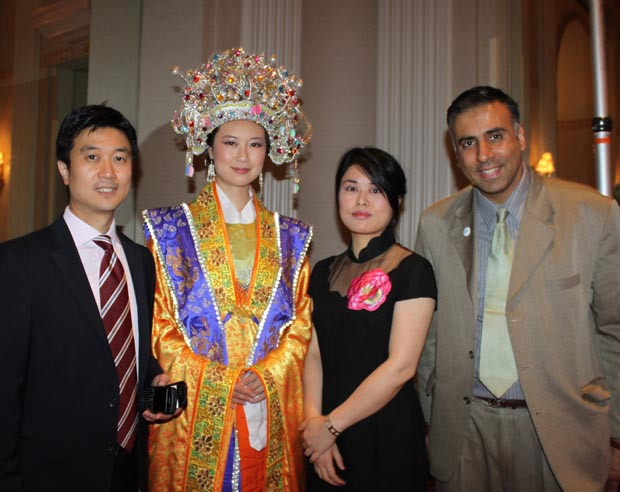 Dr.Abbey with Han Couture Chinese Designers