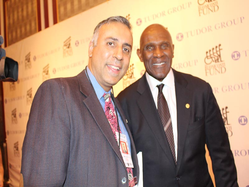 Dr.Abbey with Harry Carson Superbowl Champion & Hall of Famer
