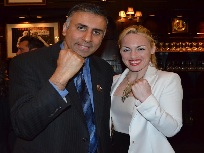 Dr.Abbey with Heather Harding Womens Boxing Champ