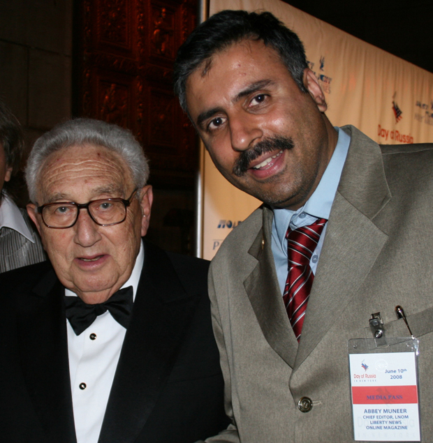 Dr.Abbey with Henry Kissinger Former Secty of State