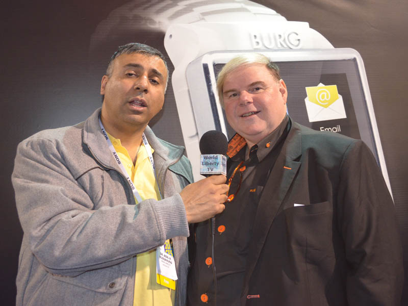 Dr.Abbey with Hermen Van Den Burg  Founder President Burg Android Smart Watch