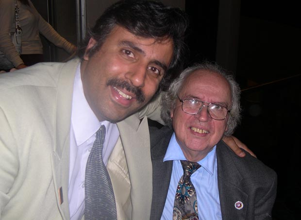 Dr.Abbey with Hernando Merchand President of Centre culture of Columbia