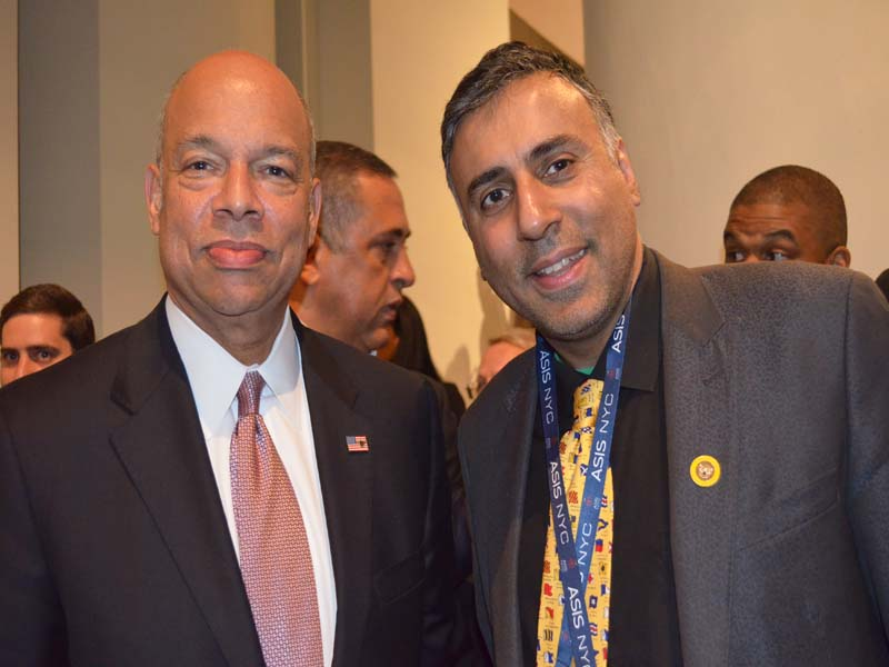 Dr.Abbey with Homeland Secretary Jeh Johnson