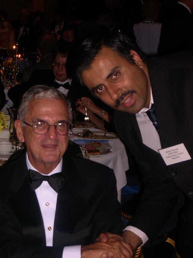Dr.Abbey with  Howard Rubenstein President & founder Rubenstein Public Relations