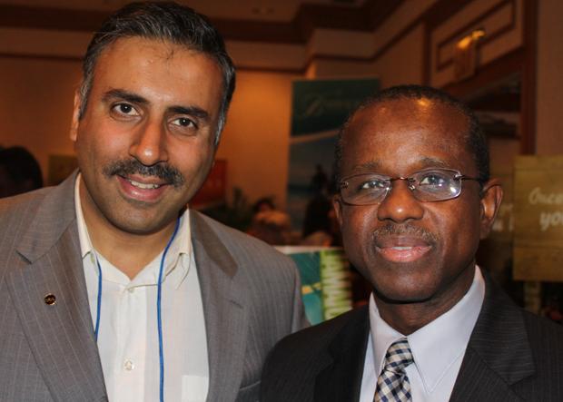 Dr.Abbey with Hugh Riley CEO ,CTO