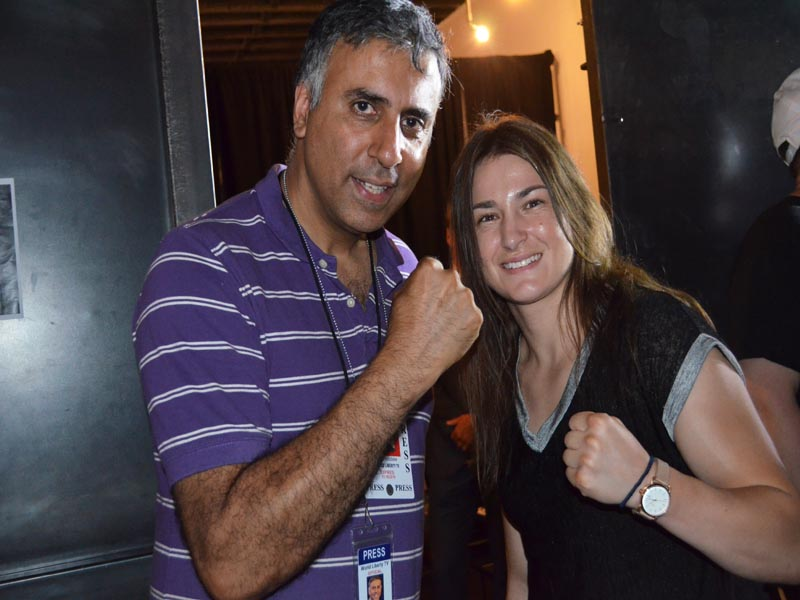 Dr.Abbey with IBF women's lightweight champion Katie Taylor