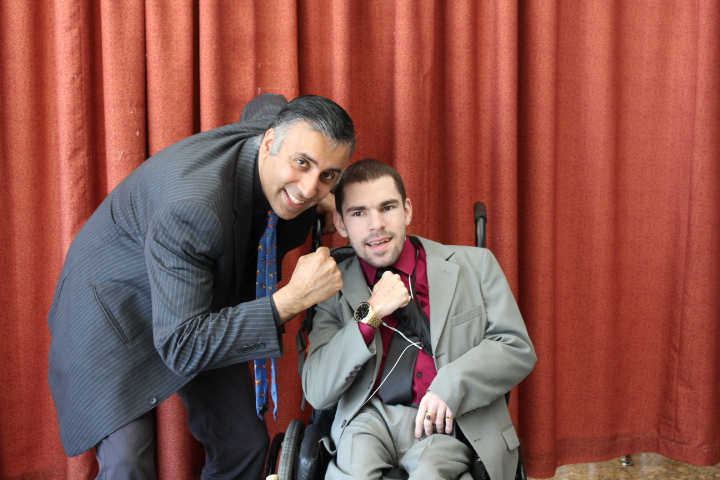 Dr.Abbey with Ian Cannon of WBC  Wheel Chair Boxing