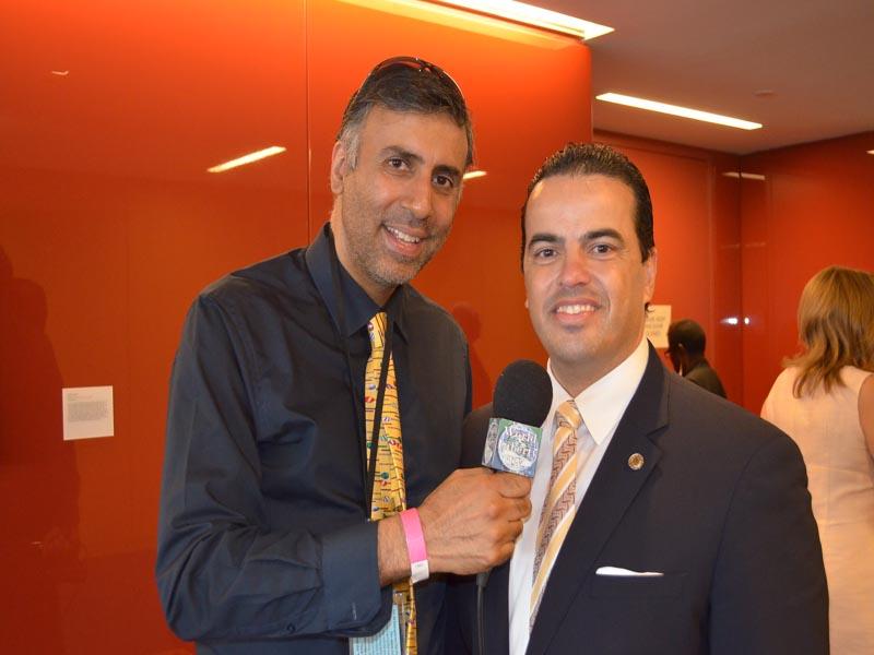 Dr.Abbey with Ignacio Veloz Chairman US Hisp Chamber of Commerce