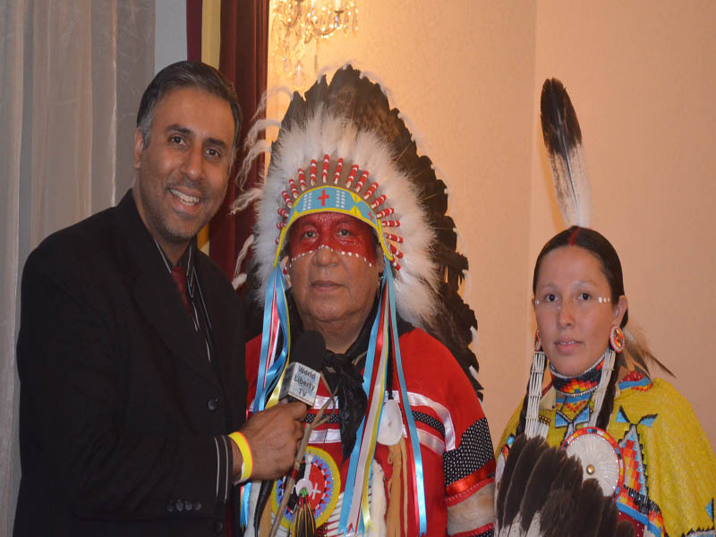 Dr.Abbey with Indian Chief and wife