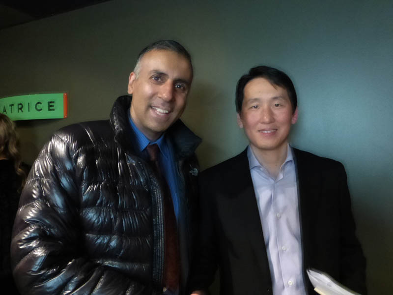 Dr.Abbey with James C.Rhee Chairman Ceo of Ashley Stewart