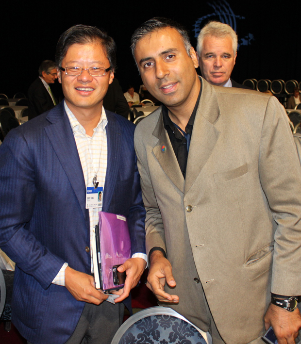 Dr.Abbey with Jerry Yang Co-Founder Yahoo