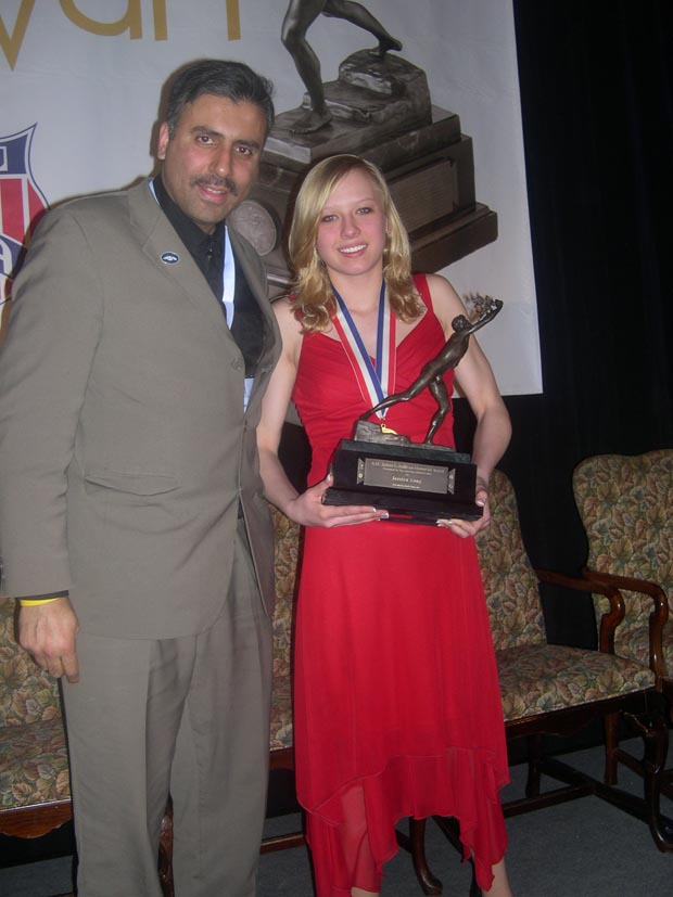 Dr.Abbey with Jessica Long  Paralympian Swimmer  Winner  of 2008 Sullivan Award