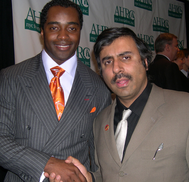 Dr.Abbey with Jets Running Back Curtis Martin