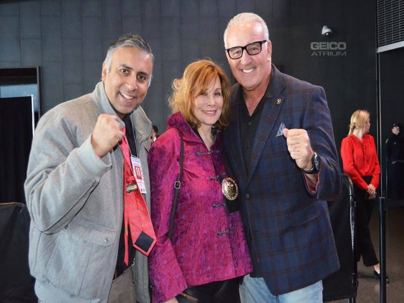 Dr.Abbey with Jill Diamond International Secretary of the World Boxing Council & Gerry Cooney Heavyweight Boxing Contender