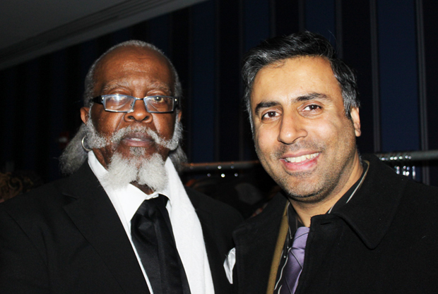 Dr.Abbey with Jimmy McMillan, founder of the Rent is Too Damn High Party