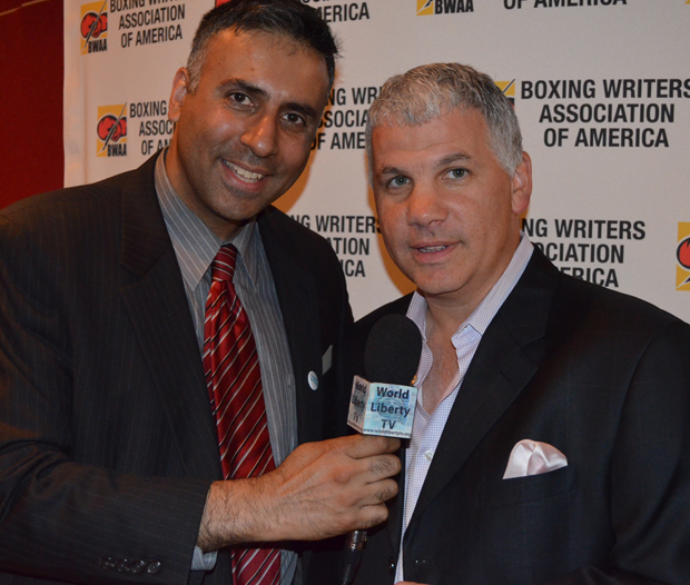 Dr.Abbey with Joe De Guardia Boxing Promoter