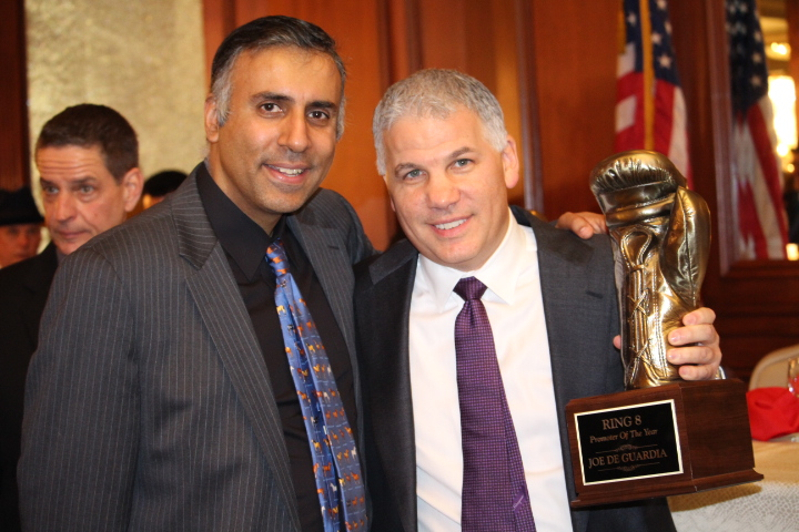 Dr.Abbey with Joe DeGuardia Boxing Promoter of the year