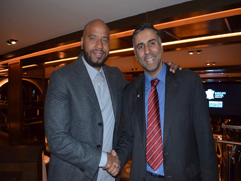 Dr.Abbey with Joel Perez of Roc Nation Sports