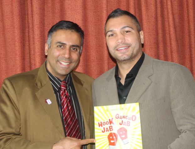 Dr.Abbey with John Ruiz First Hispanic World Heavyweight Champion