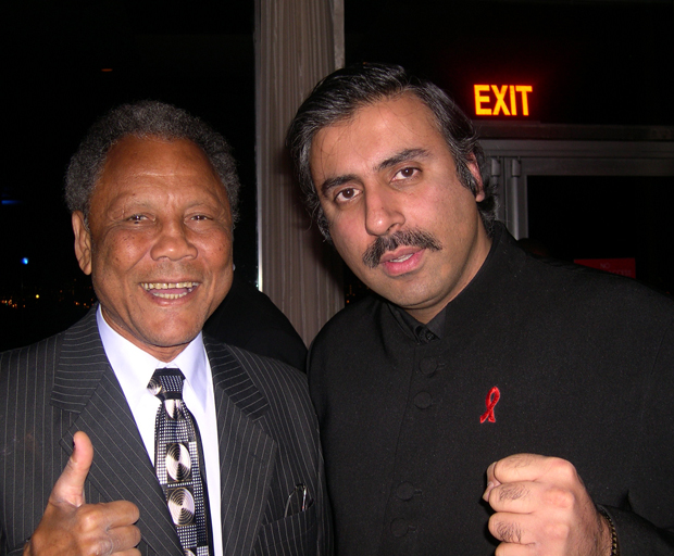 Dr.Abbey with  Jose Torres Former World Light Heavyweight Boxing Champ