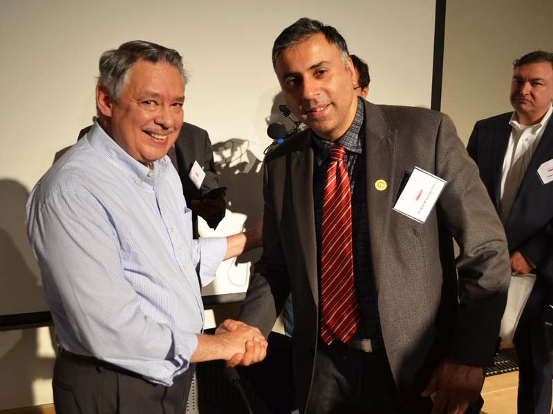 Dr.Abbey with Juan Gonzalez of  Daily News