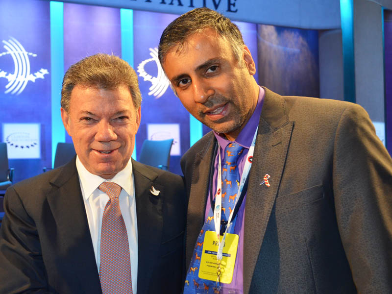 Dr.Abbey with Juan Manuel Santos President Colombia