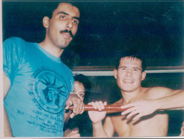 Dr.Abbey with Julio Cesar Chavez Mexican Boxing Great