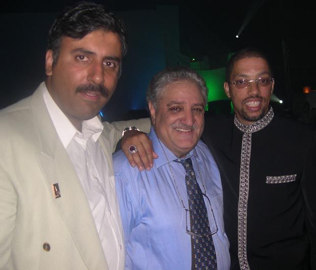 Dr.Abbey  with Kamal Dandona Chairman Bollywood Awards and Barrett La Roda