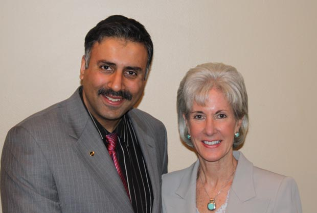 Dr.Abbey with Kathleen Sebelius US Secretary of Health and Human Services