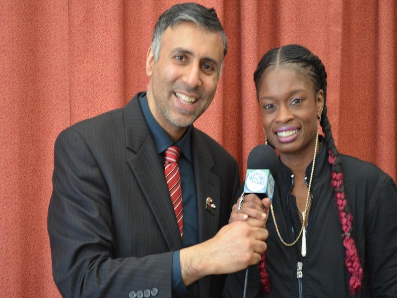 Dr.Abbey with Keisher McLeod Wells Womens World Boxing Champ