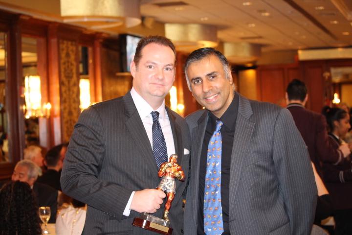 Dr.Abbey with Keith O' Sullivan Esq,NYSAC Deputy Commissioner