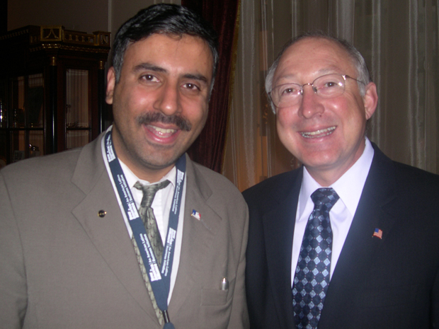 Dr.Abbey with Ken Salazar Senator of Colorado