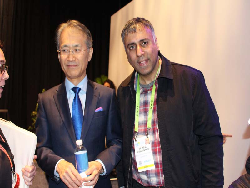 Dr.Abbey with Kenichiro Yoshida President & CEO Sony Corp