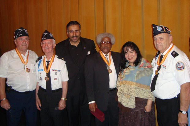 Dr.Abbey with Korean Veterans